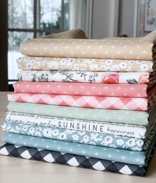 Gingham Gardens 10-piece Fat Quarter Collection for Riley Blake Designs