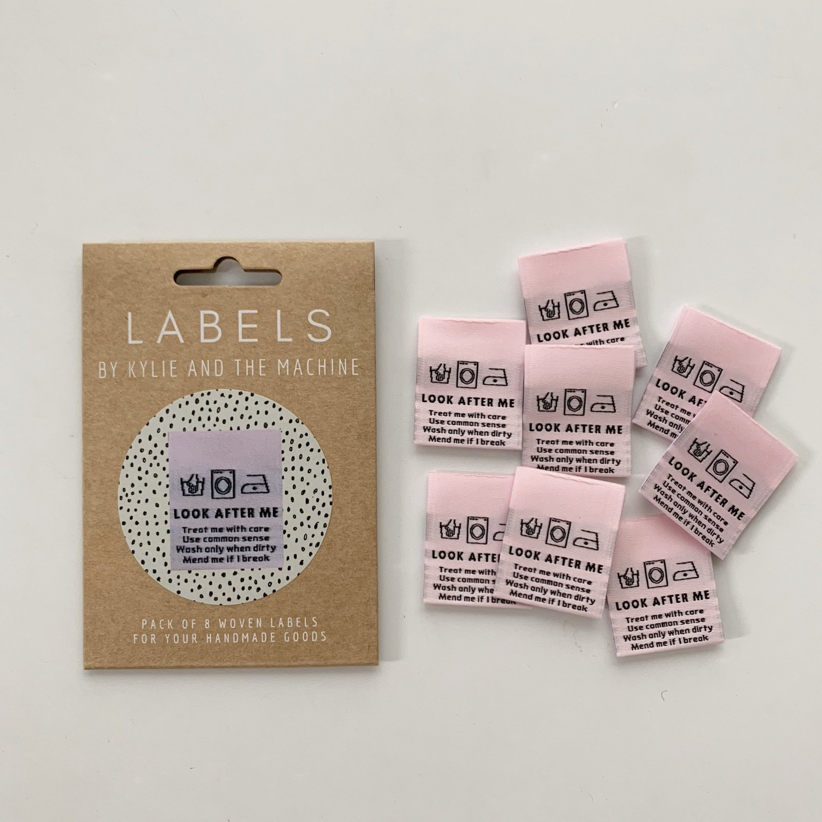 LOOK AFTER ME Woven Sewing Labels by Kylie and the Machine