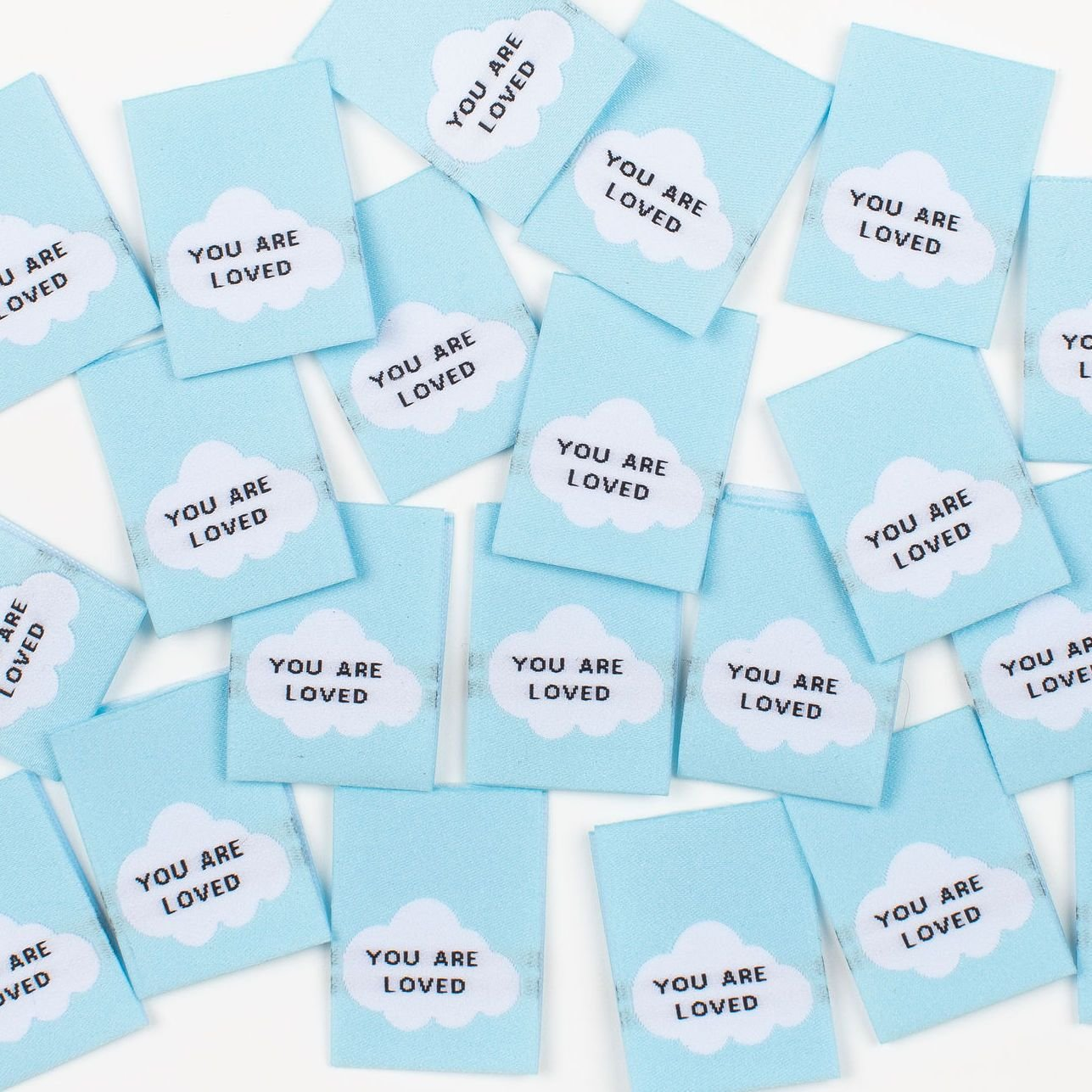 YOU ARE LOVED Woven Sewing Labels by Kylie and the Machine