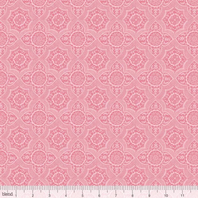 Meadows Lace in Pink by Ana Davis for Blend Fabrics