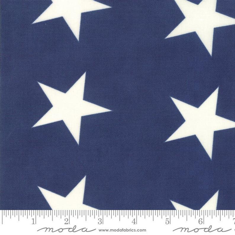 Mackinac Island Stars in Navy by Minick & Simpson for Moda Fabrics