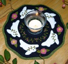 Bunnies Candle Mat