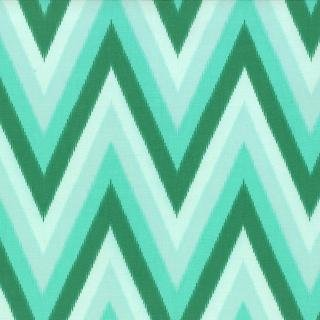 Floral Ikat Chevron Light Green
