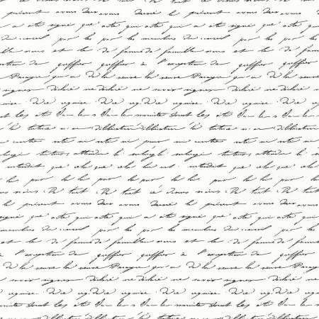 Garden Splendor - Vintage White Script