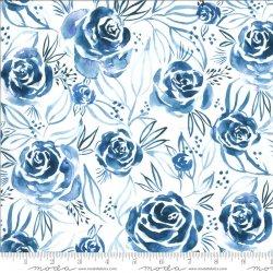 moody bloom rosette indigo
