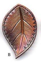 Susan Clarke - Metal 1 x 1 5/8 Leaf Burnt Orange