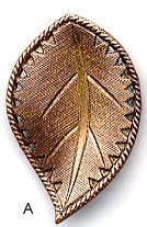 Susan Clarke - Metal  1x 1 5/8 Leaf Copper/Gold