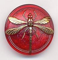 Susan Clarke - Dragonfly 1 5/8 Czech Glass