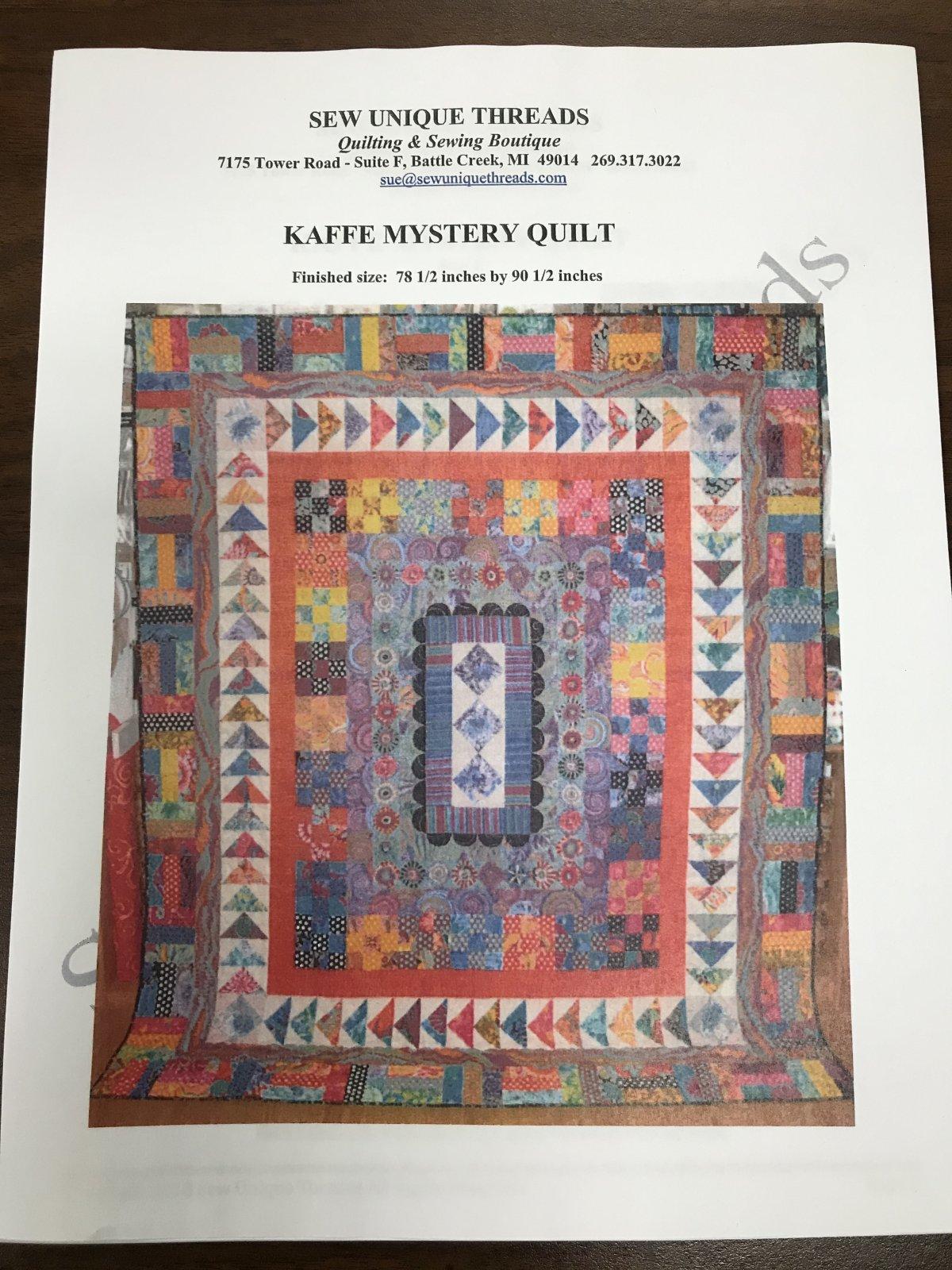 Kaffe Medallion Mystery Quilt Pattern