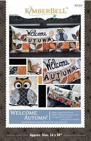 KimberBell Welcome Autumn Pillow Kit