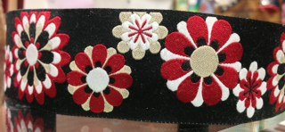 Black and Red Flowers
