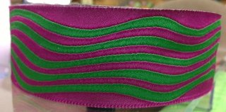 Purple and Green Waves