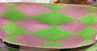 Pink and Green Harlequin