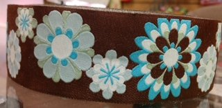 Brown and Blue Flowers