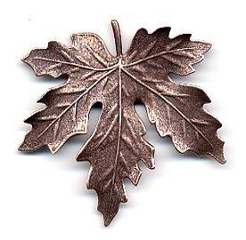 Susan Clarke - Leaf 2.25 x 2.25 Antique Copper Finish