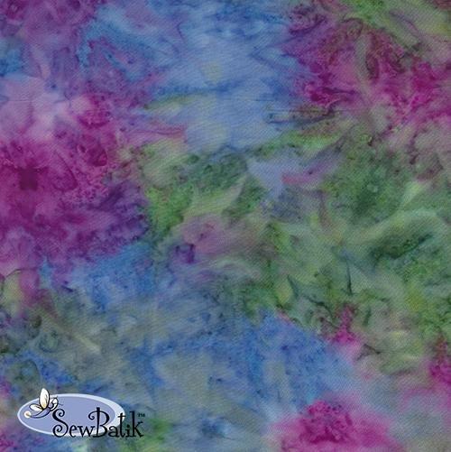Sew Batik Rayon - Spray - Shazaam Multi