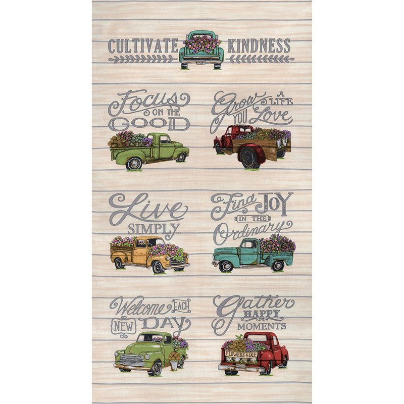 Cultivate Kindness Vintage - Truck Tan Panel