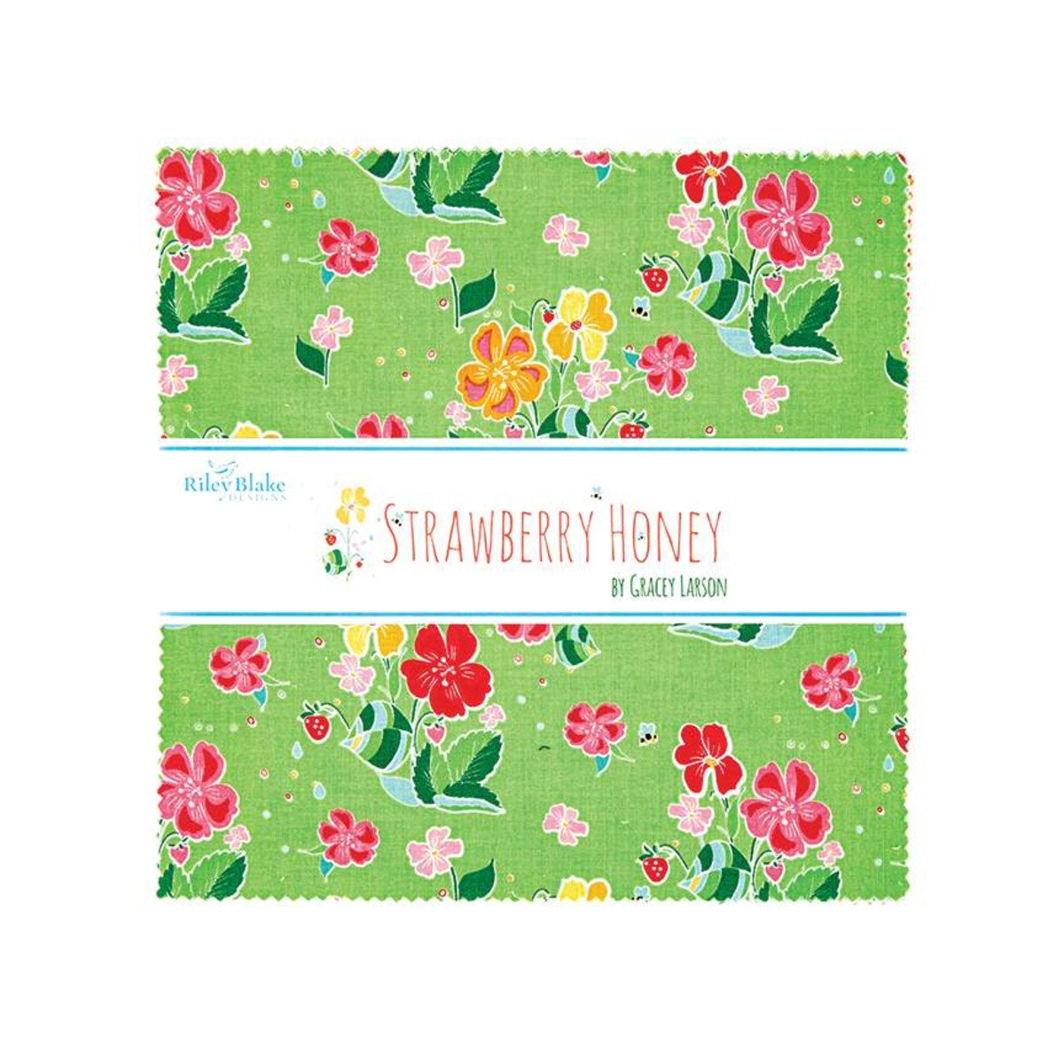Strawberry Honey 10in Squares, 42pcs
