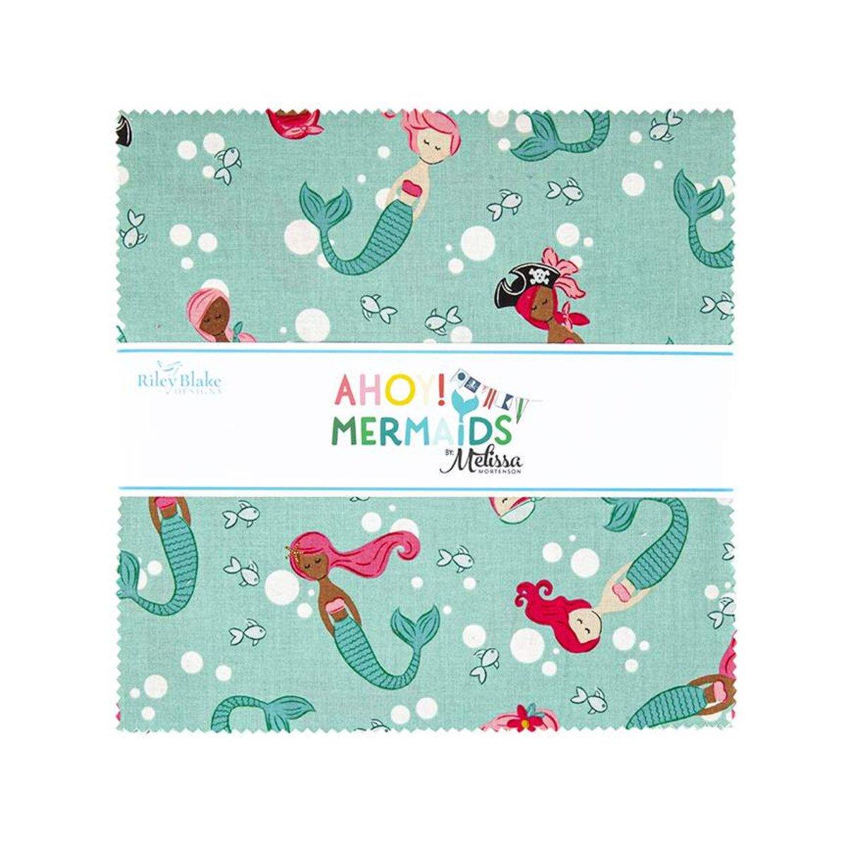 Ahoy Mermaids 10in Squares, 42pcs