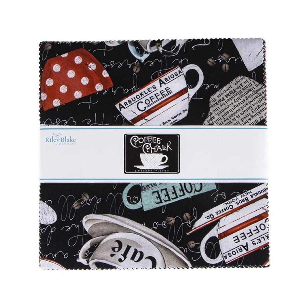 Coffee Chalk 10in Squares, 42pcs/bundle