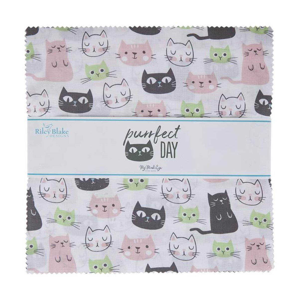 Purrfect Day 10in Squares, 42pcs
