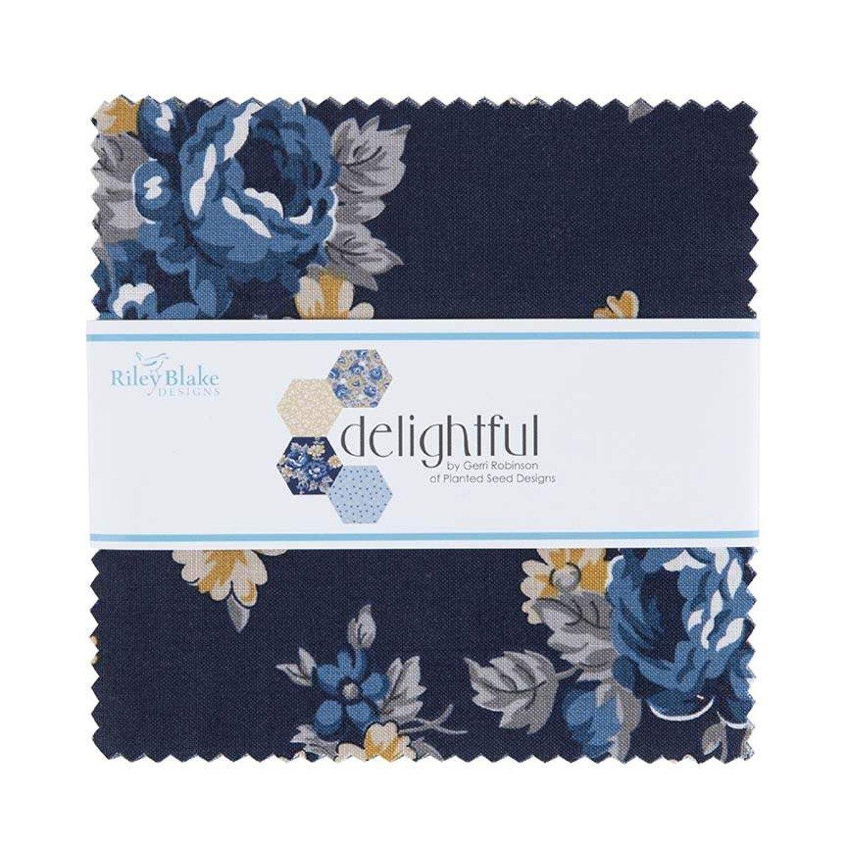Delightful 5in Squares Delightful, 42pcs, 3 bundles/pack