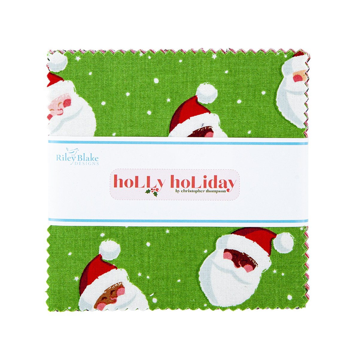 Holly Holiday 5in Squares, 42/bundle
