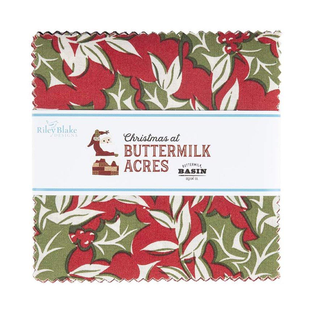 Christmas At Buttermilk Acres 5in Squares, 42pcs/bundle