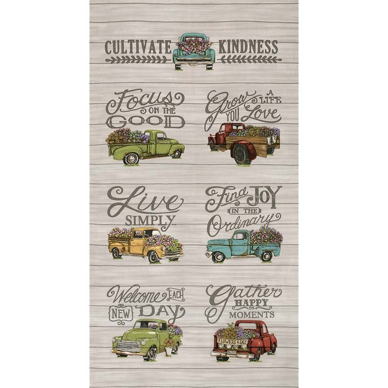Cultivate Kindness Vintage Truck -  Grey Panel