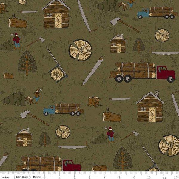 Flannel Lumberjack Aaron Main Green