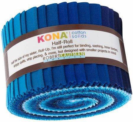 2-1/2in Strips Kona Cotton Waterfall Palette, 24pcs