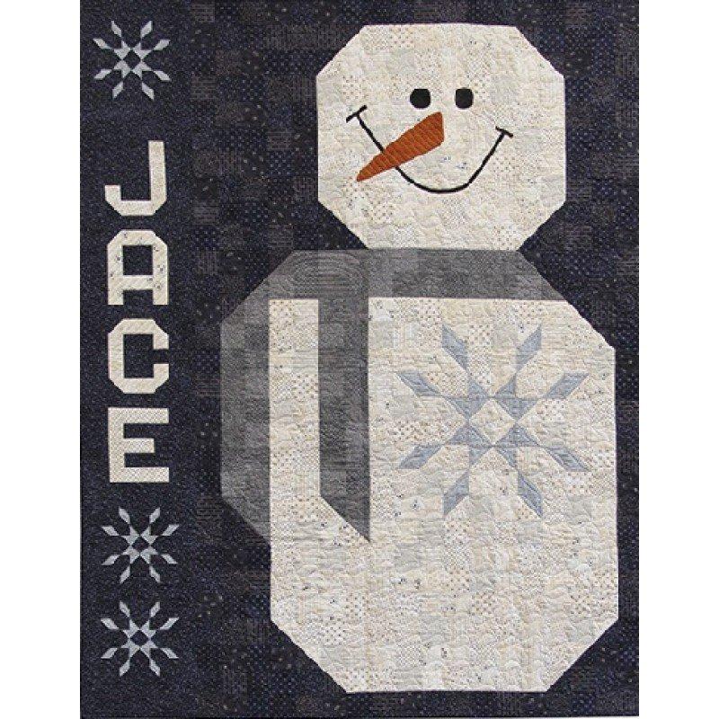Mr Snowman Quilt Kit by Primitive Gatherings Including Backing plus Batting