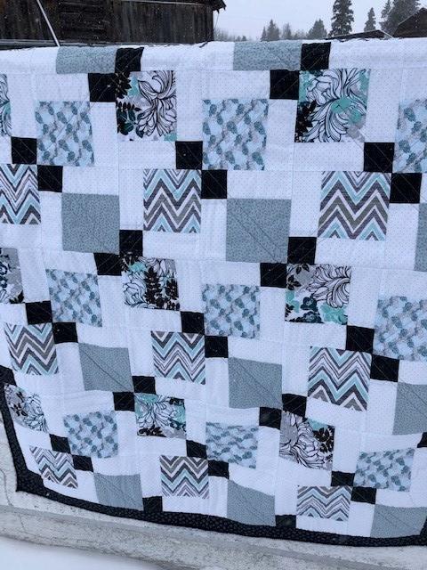 Blue Modern Finished Quilt