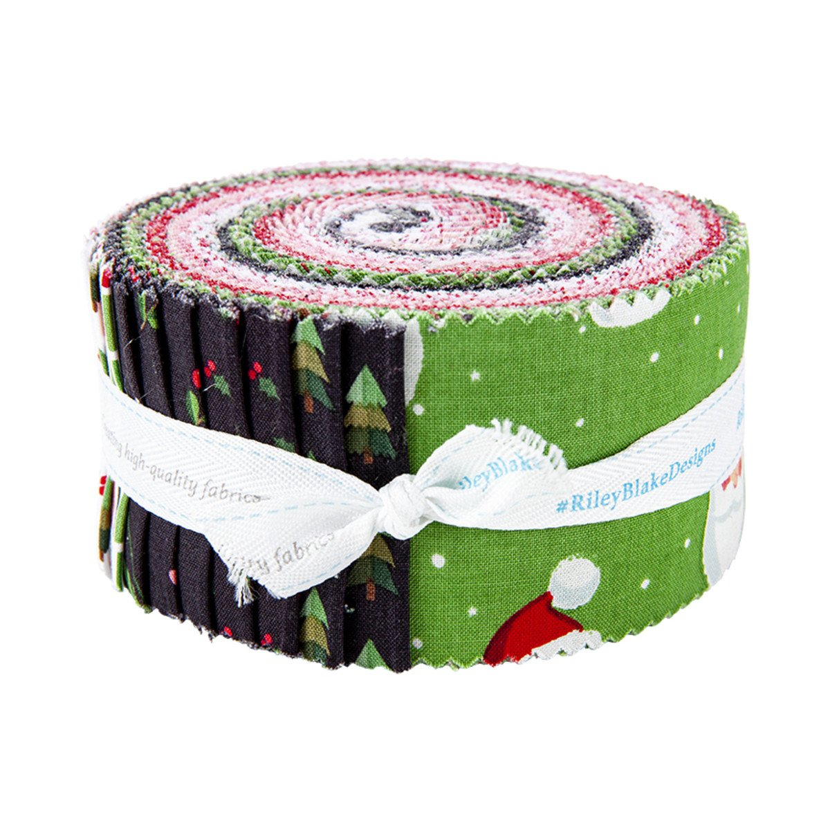 Holly Holiday 2-1/2in Strips, 40pcs/bundle