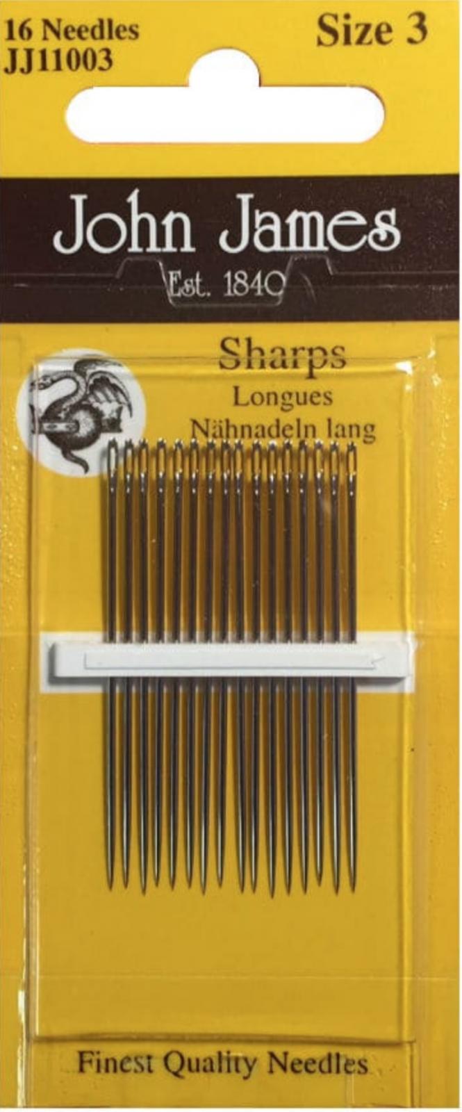John James Sharps Needle Size 3