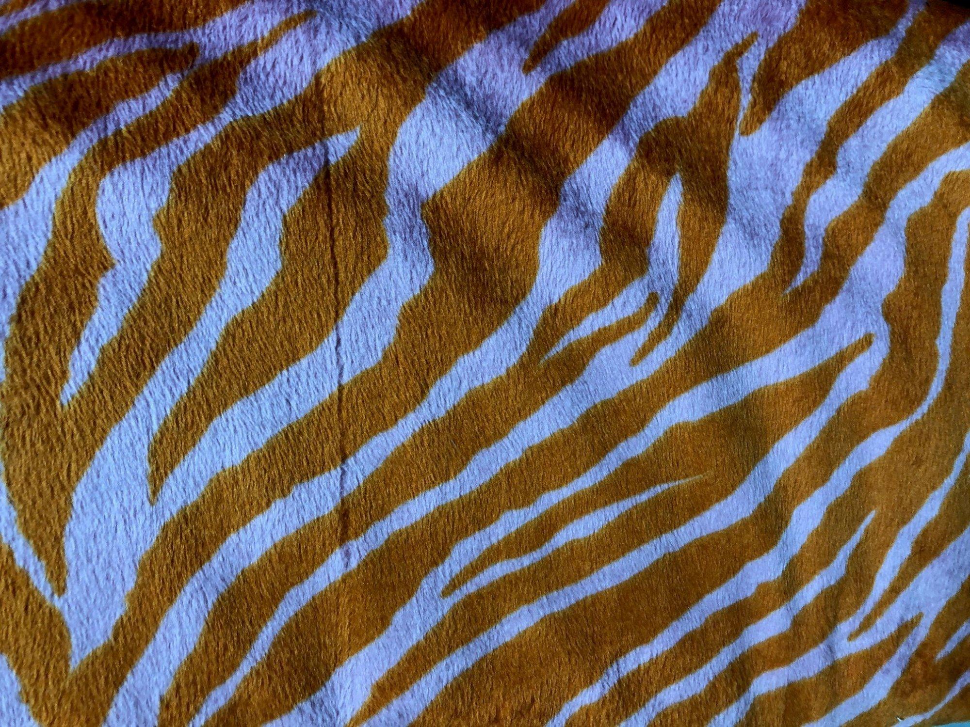 Minky Tween - Orange and Light Pink Zebra
