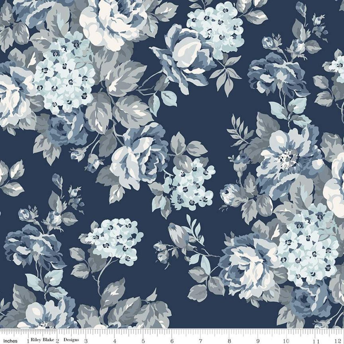 Wide Back Tranquility Floral Navy