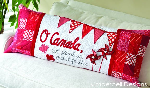 Kimberbell - O Canada Bench Pillow Cover Kit - KD178QK