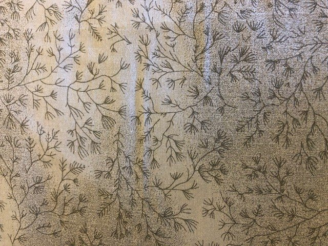 108 Wide Backing - Grey with Dark Grey Prints