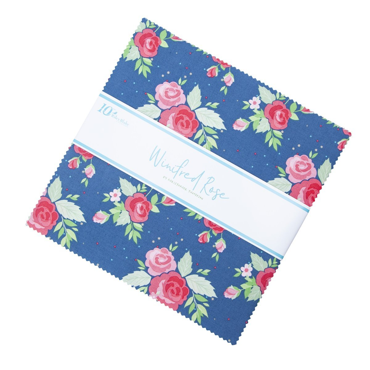 10in Squares Winifred Rose, 42pcs