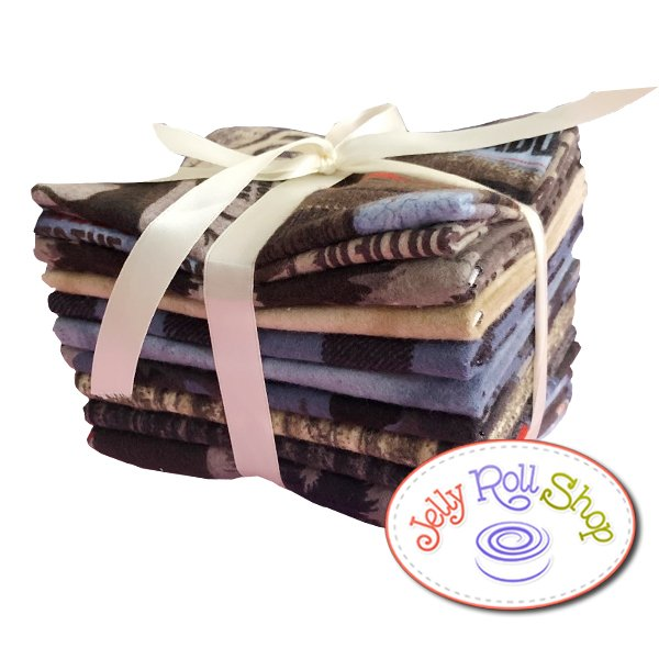 Wild Life Flannel Bundle with Panel in Blue