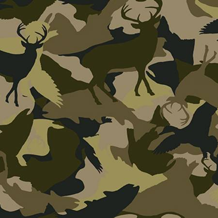 Green Deer Camo on Flannel