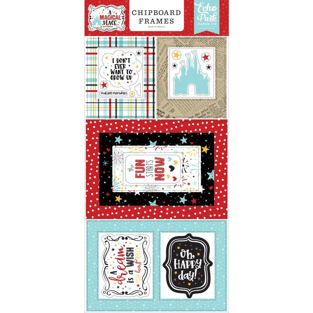 A Magical Place Chipboard Frames 6X13