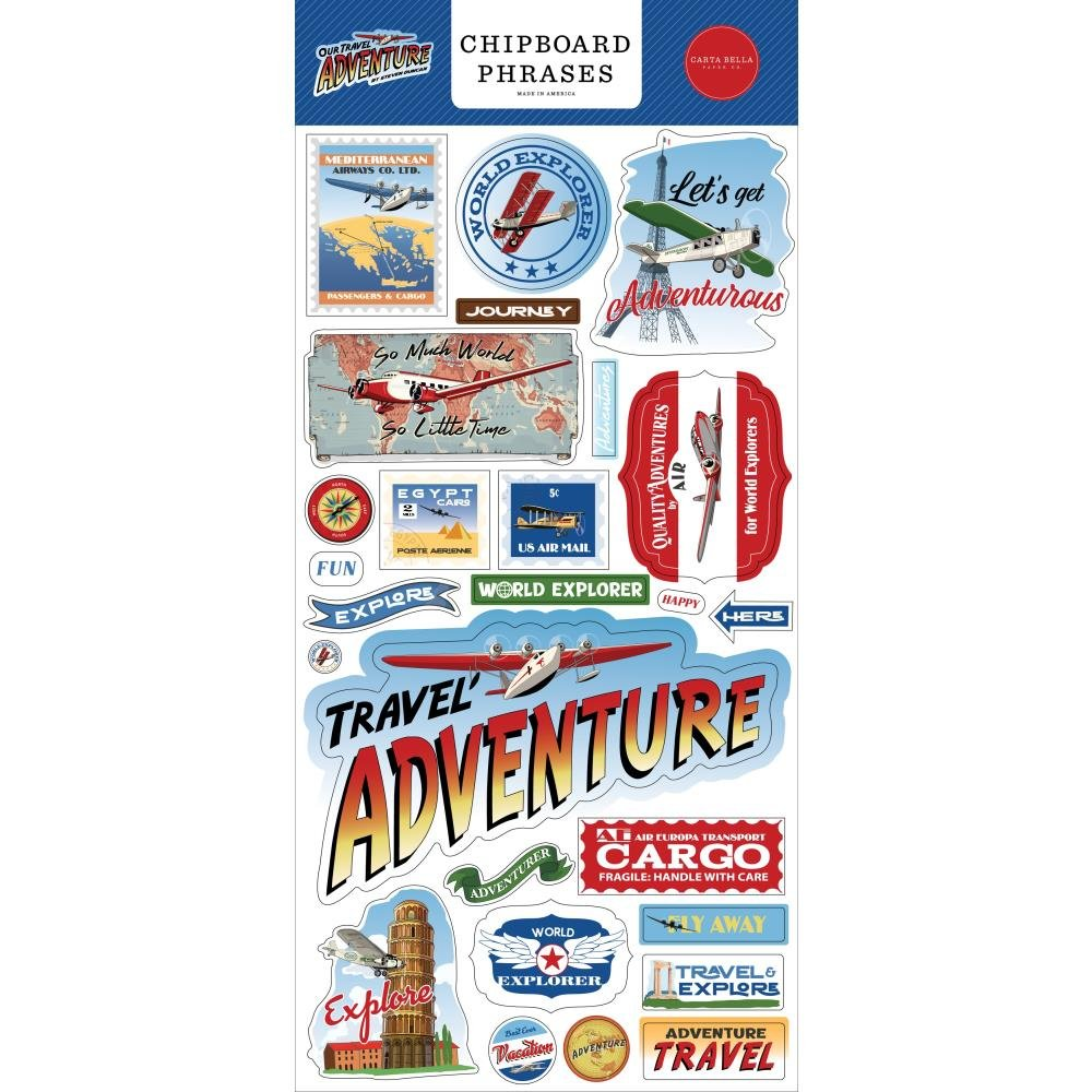 Our Travel Adventure Chipboard 6X13 Phrases