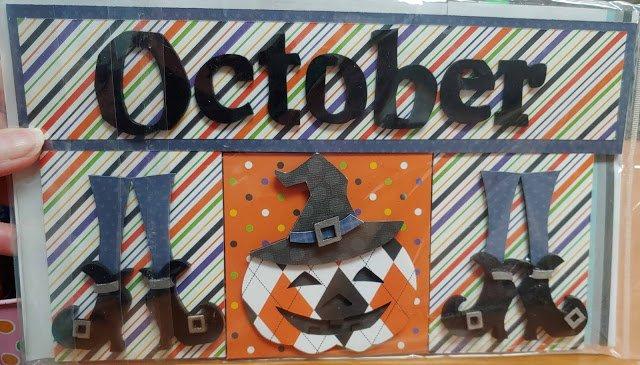 October Calendar insert