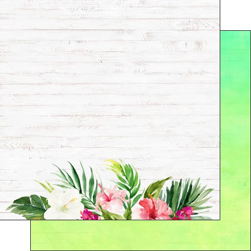 Vacay Floral Bottom Double-sided paper