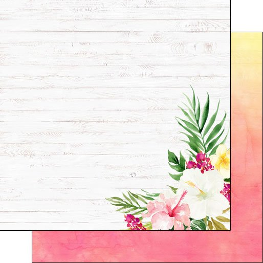 Vacay Floral side  Double-sided paper