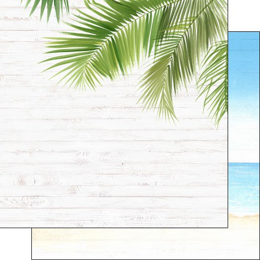 Vacay Corner Frond Double-sided paper