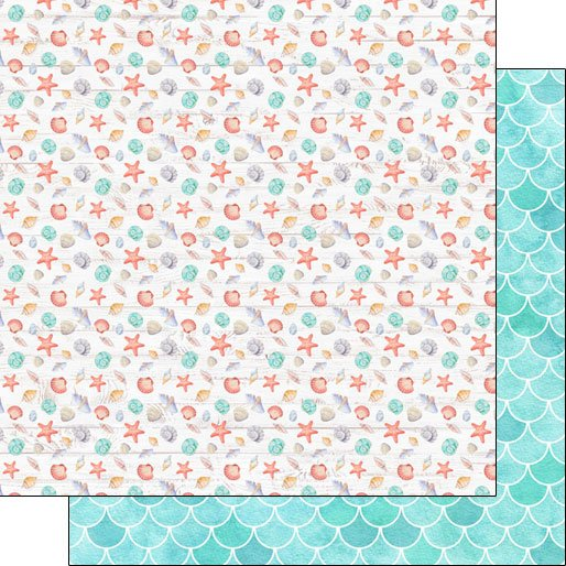 Vacay Shells Double-sided paper