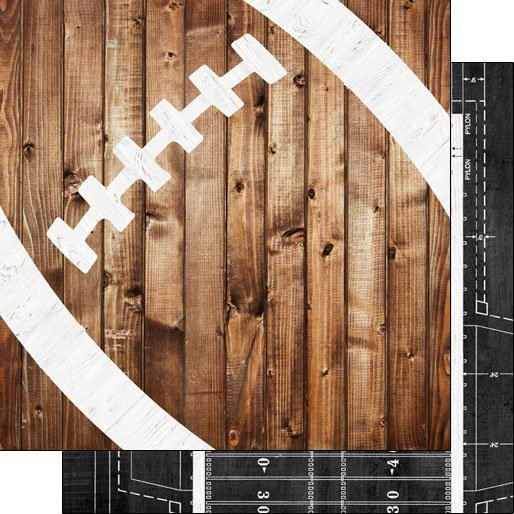 Football Wood Double-sided paper